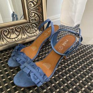 Heeled sandals | blue heels | blue sandal heels